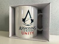 BNIB Genuine Assassins Creed Unity Logo Gift Boxed Smart White Coffee Mug