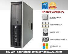 HP 8300 Elite Gaming PC | Core i5 Quad Core | 8GB 500GB | 2GB Graphics | Win 10