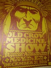 Old Crow Medicine Show - Rare - Concert Poster - New Year's Eve 2016