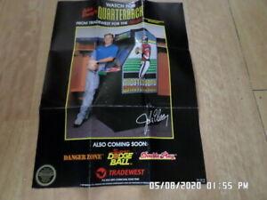 Nintendo NES (1988) Tradewest Promo Poster / Insert: John Elway's Quarterback