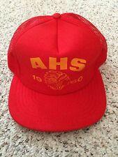 VTG AHS Cherokee Indian Hat Cap Snap Back Retro 1960s Trucker Mesh Hat - U.S.A.