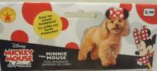 NEW DISNEY MINNIE MOUSE EARS HEADBAND PUPPY DOG PET DRESS UP COSTUME SIZE S/M
