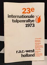 1973 INTERNATIONAL TULPEN TULIP RALLY REGULATION REGLEMENT PROGRAMME OPEL ASCONA