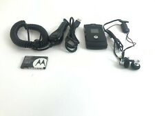 Motorola Razr V3 Black W/ Car Charger, Headphones, Usb Cable