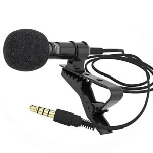 External 3.5mm Hands-Free Wired Lapel Clip Microphone Lavalier Microphone