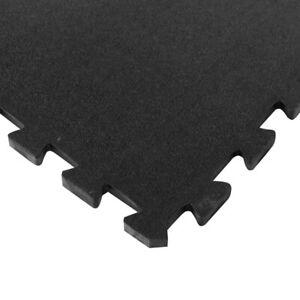 4pcs Heavy Duty Gym Garage Industrial Rubber Mats Interlocking Flooring Tiles