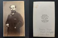 Carjat, Paris, Eugène Feyen, peintre et photographe Vintage albumen print CDV.