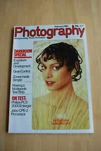 Vintage PHOTOGRAPHY Magazine February 1982 in black/white/colour