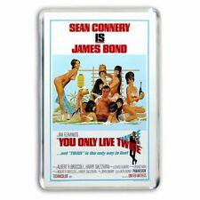 RETRO JAMES BOND 007 YOU ONLY LIVE TWICE POSTER ARTWORK - JUMBO FRIDGE MAGNET