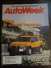 Autoweek Magazine December 2000 Pontiac Aztek Pebble Beach (Y5)