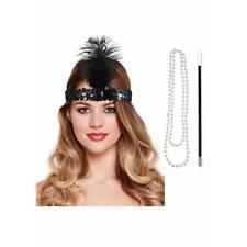 Aleta instantánea Kit cigarrillo casco Perlas 1920s Charleston Vestido de fantasía
