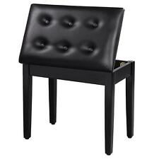 Small Bathroom Vanity Seat Makeup Bench Stool Bedroom Furniture Chair Black New