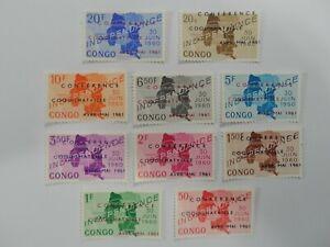 Discount Stamps : D R CONGO 1961 SC#371-80 COQUILHATVILLE CONF. 10v MNH SET