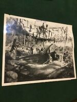 WWII Official US Marine Corps Photographic Section Restricted Big Gun 1943