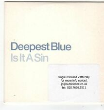 (FG736) Deepest Blue, Is It A Sin - DJ CD