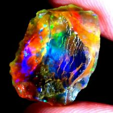 NATURAL ETHIOPIAN PLAY OF COLOR WELO BIG SIZE OPAL ROUGH CAB GEMSTONES TC47/DC01