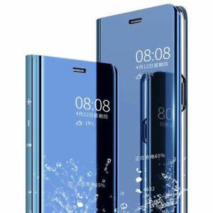 Schutz Hülle für Samsung Galaxy A20e Flip CASE Cover Etui Tasche Spiegel Optik