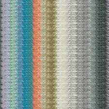 NORO ::Silk Garden #428:: silk mohair wool yarn Greys-Orange-Olive-Aqua-White