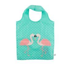 Sass und Belle faltbare Einkaufstasche Beutel türkis Flamingo Flamingos