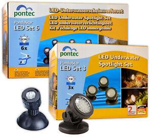 OASE PONTEC PONDOSTAR LED POND LIGHT SET LIGHTING SUBMERSIBLE UNDERWATER GARDEN