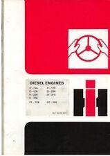 INTERNATIONAL ENGINE D155 D179 D206 D239 D268 D310 D358 DT239 OPERATORS MANUAL