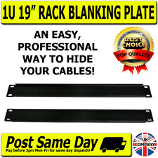 Cable Management Blanking Plate 19 Inch Network Rack Switch Patch Panel DJ Audio