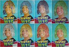 70s Disco Metallic Cyber Tinsel Wigs Fancy Dress