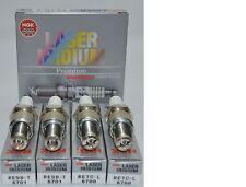 MAZDA RX8 NGK LASER IRIDIUM SPARK PLUGS (2) RE7CL Trailing (2) RE9BT Leading