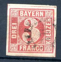 GERMANY BAVARIA Mi # 9 c, Used VF