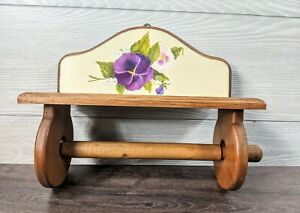 Wood shabby chic Paper Towel Holder Vintage Wall Mount Farmhouse Kitchen