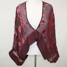 NEW NWT Cocoon House Entwine Sheer Velvet Artisan Short Kimono Jacket Top L/Xl