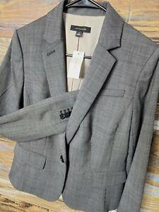 NWT $198 Ann Taylor Wool Blend One Button Surgeon Wrist Short Blazer Jacket Sz 6