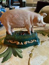 wright Studio Vintage Cast Iron Pig door Stopper