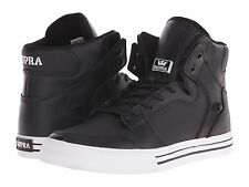 NEW SUPRA VAIDER BLACK WHITE LEATHER 08208-002 HIP HOP SKATEBOARDING SHOES 12