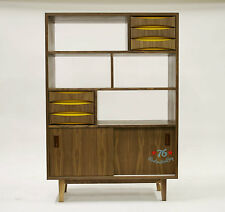 "danish mid century modern "" vodder inspired "" storage unit cabinet eames wegner"