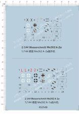 1/144 Messerschmitt Me262 A-1a + Me262 A-2a Fighter Model Kit Water Decal