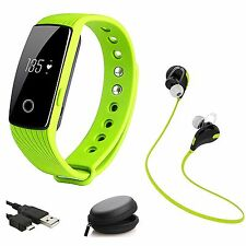 Bluetooth Waterproof Smart Watch Wrist Wireless Earphones For iPhone Samsung