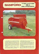 Farm Equipment Brochure - Bamford - FY185 FY285 MK 2 Side Spreader (F5684)