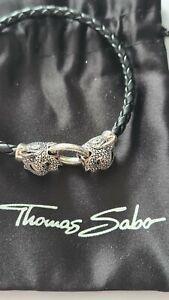 Thomas Sabo LEDERARMBAND BLACK CAT