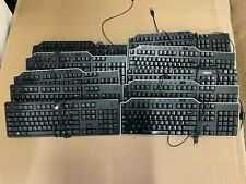 Lot of 10 - Black Dell USB Keyboards