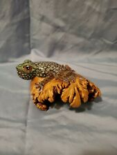 Bali Hand Carved & Painted Wood Frog