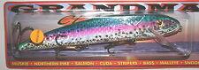"9"" Grandma Lure Classic Crankbait Musky Pike Holoform Rainbow Trout G9H-26"