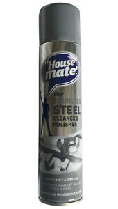 House Mate Stainless Steel Cleaner and Polisher 400ml Brilliant Smear-Free Shine