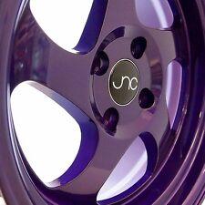 JNC034 15x8.25 4x100 ET20 Full Candy Purple Wheels/Rims Fit Acura Integra