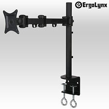 Ergolynx pantalla única Vesa Monitor largo brazo de soporte de escritorio inclinación LED LCD TV Abrazadera