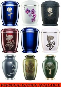 Urns for Ashes Adult Large Cremation Human Funeral Memorial Rose Personalised