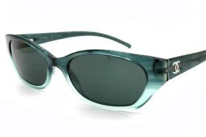 Chanel 5075-H Sunglasses Green 788/6 Authentic 52mm