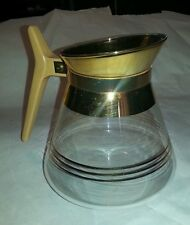 """Vintage Retro Glass Coffee Pot w/ 22 Ct Gold Trim  """"Free Priority Mail Shipping"""""""