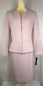 Arthur Tahari Women Suit 14 Blazer Dress Sheath Stretchy Career Pink New $329