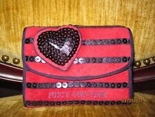 Juicy Couture YSRUS634 Red & Purple Stripe Terry Wallet NWT